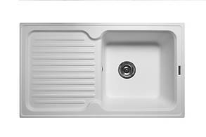 Кухонна мийка гранітна MIRAGGIO ORLEAN white