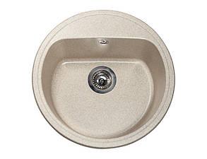 Кухонна мийка гранітна MIRAGGIO MALIBU sand