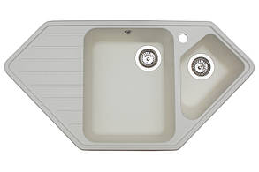 Кухонна мийка гранітна MIRAGGIO TIRRION white