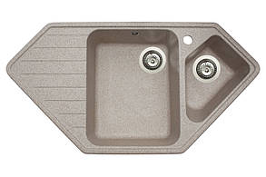 Кухонна мийка гранітна MIRAGGIO TIRRION sand