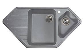 Кухонна мийка гранітна MIRAGGIO TIRRION gray