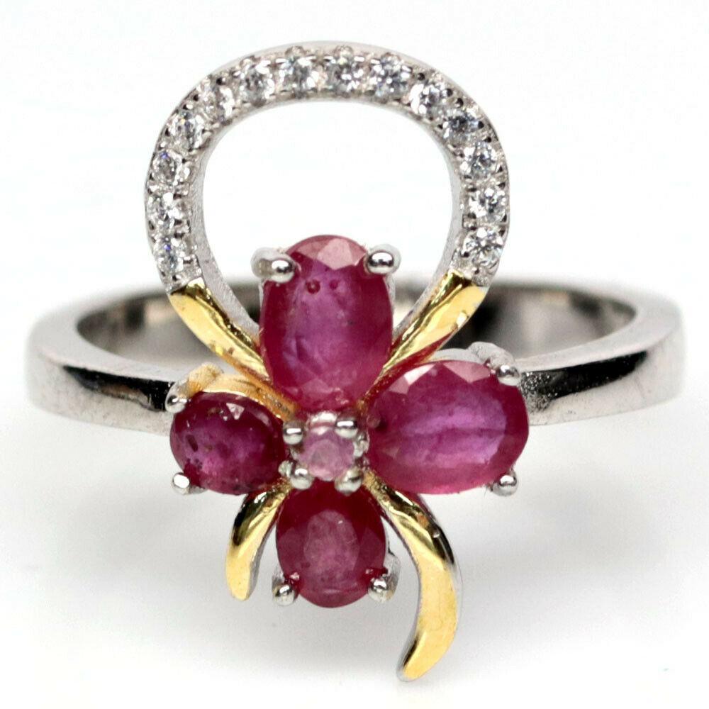 Серебряное кольцо с рубином, 1733КР