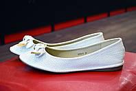 Белые женские балетки SOPRA, фото 1