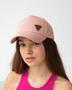 Літня кепка для дівчаток котон персикова оптом