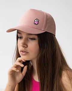 Літня кепка для дівчаток котон персикова оптом - Амонг Ас