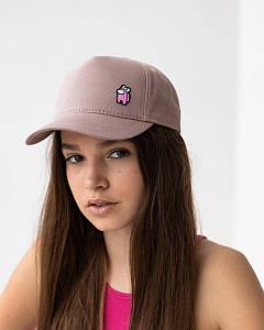 Літня кепка для дівчаток котон темно-пудрова оптом - Амонг Ас