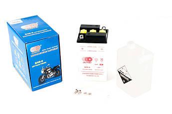 Мото аккумулятор АКБ (Аккумулятор на скутер, мотоцикл, мопед) 12В (V) 10А заливной (93x83x161, белый,