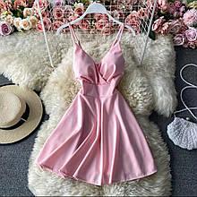 Женское платье, супер - софт, р-р 42-44; 44-46 (пудровый)