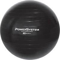М'яч для фітнесу і гімнастики Power System PS-4013 Pro Gymball 75 cm Black