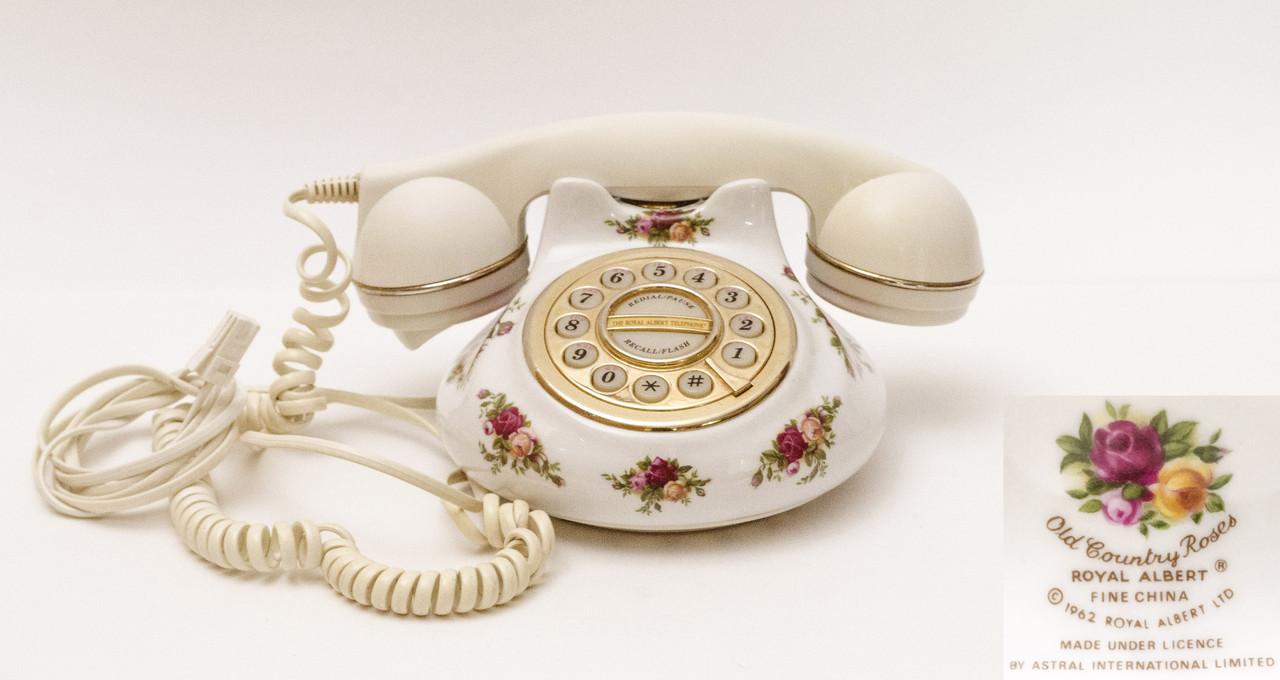 Винтажный телефон, Royal Albert, фарфор Англия
