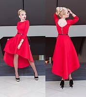 Женское стильное платье с удлиненной сзади юбкой (2 цвета)