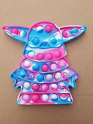ПОП-ИТ (POP IT) антистресс, сенсорная игрушка, пупырка, игрушка поп ит, pop it fidget,КругОранжевый.