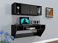 Навесной компьютерный стол ZEUS AirTable-II Kit DB (венге), фото 1