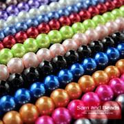 Разноцветные круглые бусины 4 мм. Набор бусин для рукоделия. Бусины для украшений. Бусины для изготовления