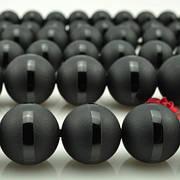 Матовые черные бусины круглой формы 10 мм. Набор бусин для рукоделия. Бусины для украшений. Бусины для