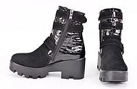 Женские зимние лаковые ботинки УОБ 023-И