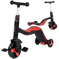 Самокат-велобіг від-велосипед 3 в 1 S 868 Best Scooter, 8 мелодій, колеса PU Червоний