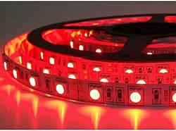 Светодиодная лента CR SMD 2835-60 IP65 12 вольт в силиконе красная