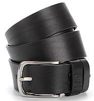 Ремень мужской GRANDE PELLE 00778 джинсовый Черный, Черный, КОД: 190183