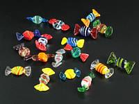 Фигурка / Мини / Художественное Стекло / Конфетка Микс S / 18 видов и цветов в наборе 3x1x1 см