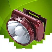 Фонарь светодиодный налобный 1 LED аккумуляторный YJ-1898-1, фото 1