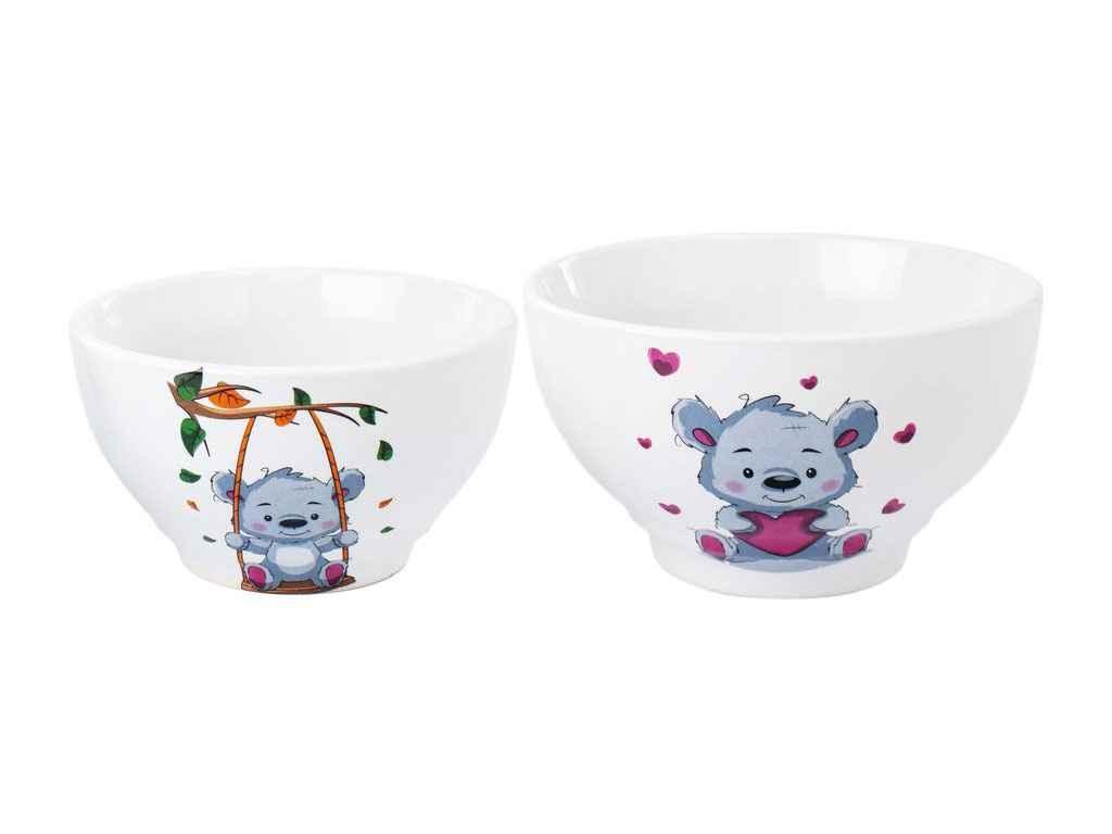 Набір дитячого посуду Полигенько Снєжка Тедді 2 предмета