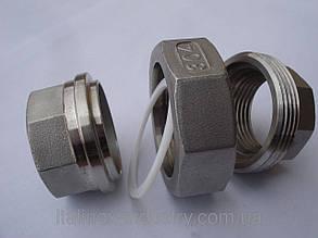 Соединение нержавеющее плоское с уплотнением AISI 304 М-М DN 20