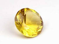 Бриллиант хрустальный / Желтый / d=3 см 3 см