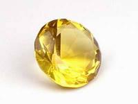 Желтый / d=3 см / Бриллиант хрустальный 3 см