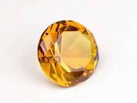 Бриллиант хрустальный / Медовый / d=3 см 3 см