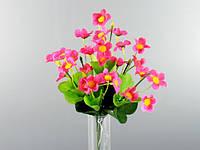 Букет /  Агростемма / 0,3 м / 28 цветков, 42 листа / Малиновый 30x15x15 см