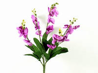 Букет / Ветка орхидеи / 5 веток / 0,5 м / 20 цветков / 15 листьев / Сиреневый 50x30x20 см
