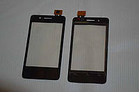 Оригинальный тачскрин / сенсор (сенсорное стекло) для Fly IQ436i Era Nano 9 (черный цвет, самоклейка)