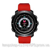 Smart watch Black-Red Wristband