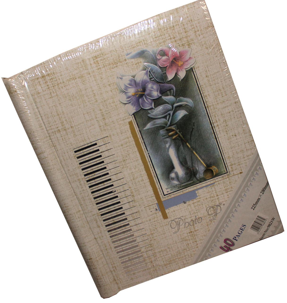 """Фотоальбомы  """"Цветы с золотом"""" (20 магн.лист 22.5Х28)"""