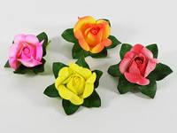 Роза / Цветок / d=13 / 16 лепестков / цвета в ассортименте 13x13x6 см