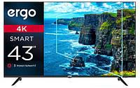 Телевизор Ergo 43DUS6000 Smart TV UHD 4К Android9 S2 T2 43 дюйма безрамочный