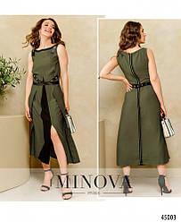 Элегантное платье с подшитым поясом, размер: 42, 44, 46,