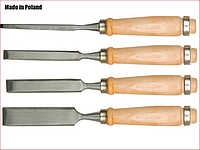Набор стамесок ударных 4 шт, 6-12-18-24 мм Vorel 25500