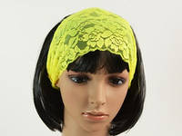 Жовтий / Пов'язка для Волосся / Мереживо 15 см