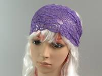 Фиолетовый / Повязка для Волос / Кружево 15 см
