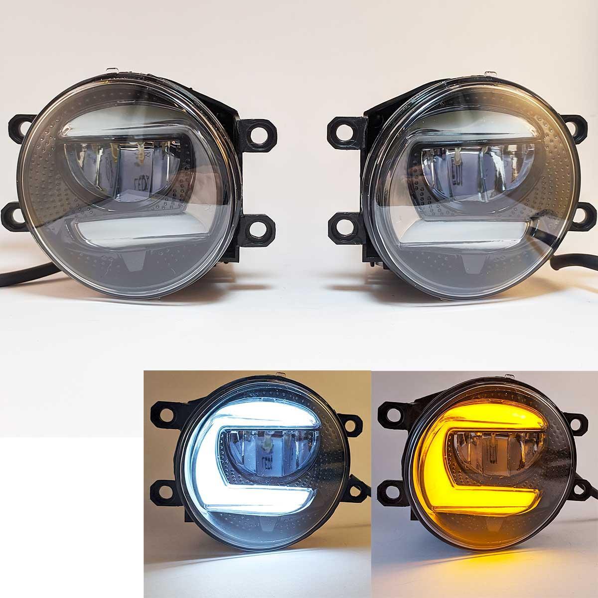 Противотуманные LED Фары Линза с ДХО и поворотом D=87мм 10-30V/10W 7000K (2шт) 3622