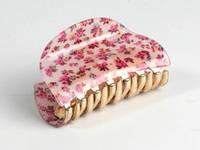 Цветочек мелкий Розовый / Заколка Краб 8x5x4 см