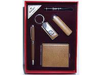 Подарочный набор ( зажигалка + ручка + брелок + мундштук + портсигар)