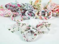 Бантик Кружево Цветочек 6 цветов / Резинка / на хвостик 12x4x1 см