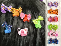 Резинки детские цветные / Бантик цветной / Набор 6 шт 3x2x1 см