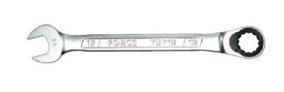 Ключ рожково-накидной трещоточный FORCE 75717 17 мм, L=223 мм