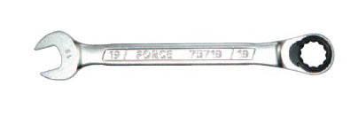 Ключ рожково-накидной трещоточный FORCE 75717 17 мм, L=223 мм, фото 2