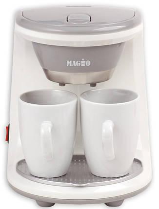 Кофеварка MAGIO МG-342, 450Вт, 2 чашки в комплекте, фото 2