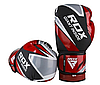 Боксерські рукавички  RDX Giant Inside, DX1245 розмір 10 унц. червоно-чорні, фото 3